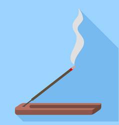 Smoke sticks icon flat style vector