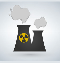 stock of nuclear power plant in flat style vector image