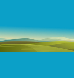 summer landscape meadow field vector image