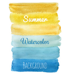 summer striped watercolor hand draw background vector image