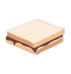 tasty food a sandwich with chocolatefood single vector image