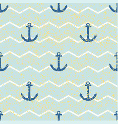 tile sailor pattern with gold stripes mint green vector image