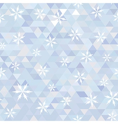 triangle and snowflake vector image
