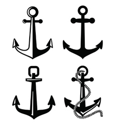 black anchor vector image