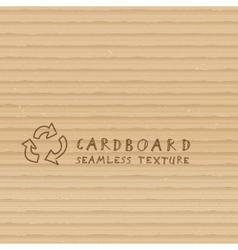 Cardboard seamless pattern vector image