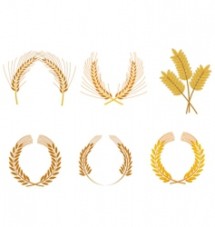 cereal wreaths vector image vector image
