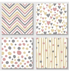 Collections of cute hand drawn seamless textures vector image vector image