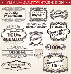 premium quality vintage design vector image vector image