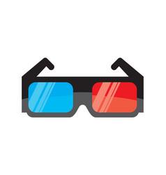 3d cinema glasses vector image vector image