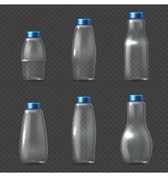 Empty glassware fragile packaging transparent vector