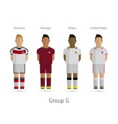 Football teams Group G - Germany Portugal Ghana vector image vector image