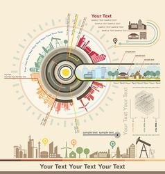 Infographics Industrial buildings vector image