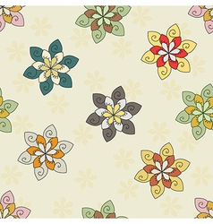 seamless background of ethnic flower vector image vector image