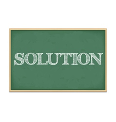 Solution vector image vector image