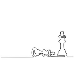 chess pieces queen and king vector image