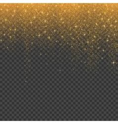 Gold glitter stardust christmas background vector