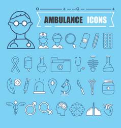 modern medical icon set vector image vector image