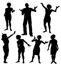 party silhouettes vector image