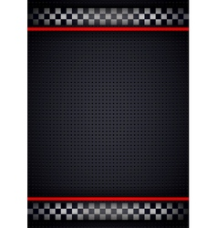 Racing background vertical metallic perforated vector image