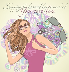 shopping and fashion vector image