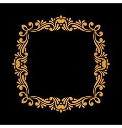 Elegant luxury vintage gold floral frame vector image