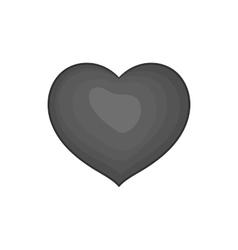 Heart icon black monochrome style vector image vector image