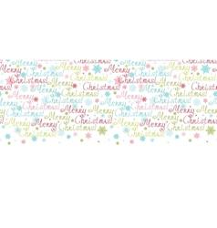 merry christmas text horizontal border seamless vector image