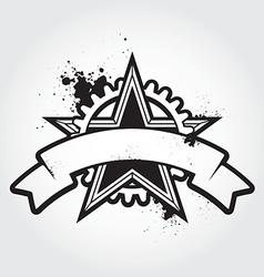 stenci black star vector image vector image
