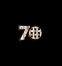 70 years anniversary celebration elegant black vector