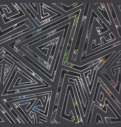 Absctract maze seamless pattern vector