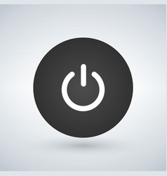 Abstract power button for websites ui or vector