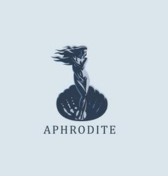 aphrodite or venus emblem vector image