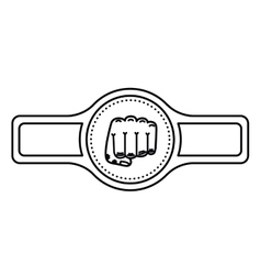belt boxing isolated icon design vector image