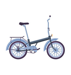 Bicycle ecological sport transport side view vector