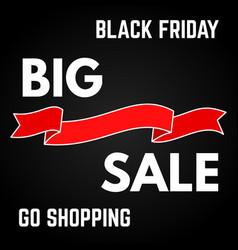 black friday sale vector image
