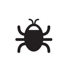 bug icon in flat style for apps ui websites black vector image