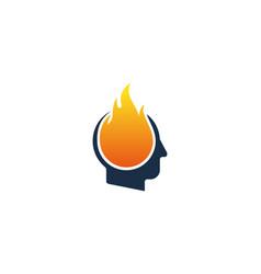Burn human head logo icon design vector