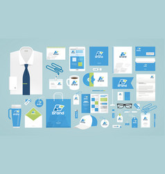 business design corporate identity template logo vector image
