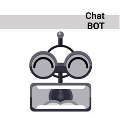 Cartoon robot face screaming cute emotion chat bot vector