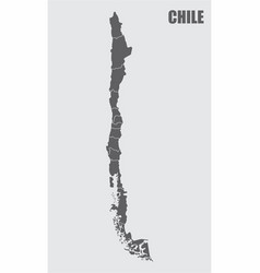 Chile regions map vector