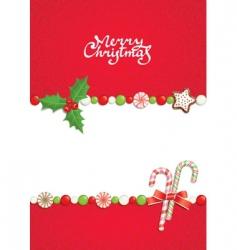 Christmas postal vector image