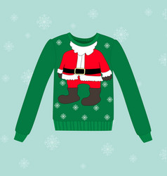christmas sweater on blue background vector image