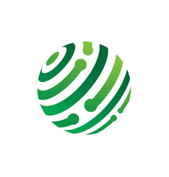 circle globe technology vector image