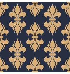 Classic french fleur-de-lis seamless pattern vector