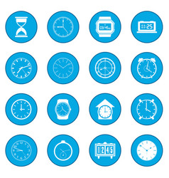 clocks set blue vector image
