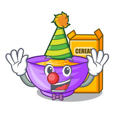 clown cereal box isolated with the cartoons vector image