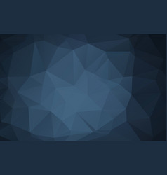 dark blue abstract polygonal mosaic background vector image