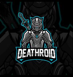 Deathroid mascot image vector