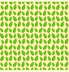 Decorative seamless texture with green leaves vector