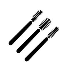 Disposable mascara wands glyph icon vector